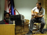 Jake Webster and Zebulun perform at opening reception