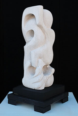 "Last Sound II, Aerated cement, 24""h"