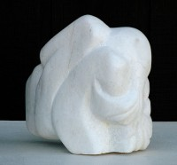 "Last Sound V, Georgia white marble, 20""h"