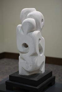 "Concern (View 2), aerated cement, 24"" h"