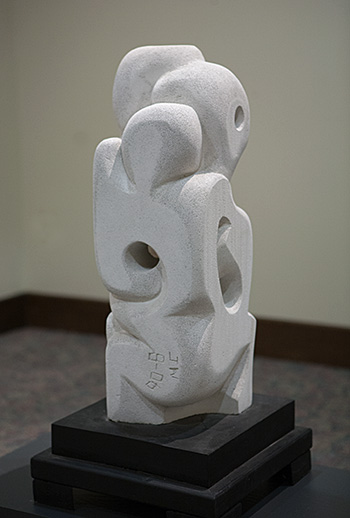 """Concern (View 2), aerated cement, 24"""" h"""