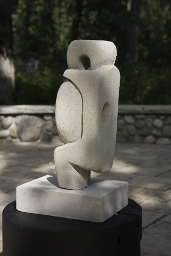 "Lady II (View 2), aerated cement, 24""h"