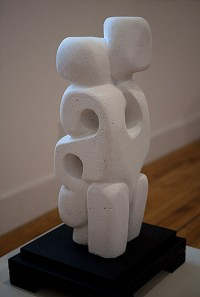 "Woman I (View 2), aerated cement, 24"" h"