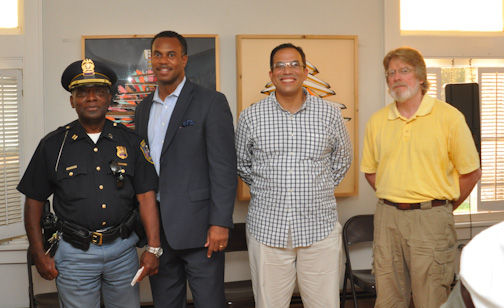 (l-r) Captain Darryl Boykins, Attorney Andre Gammage, Ish Muhammad Nieves, and Professor John Sherry -- Photo by Richard Allen